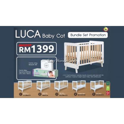 Comfy Baby Luca Baby Cot Bundle Set Promotion